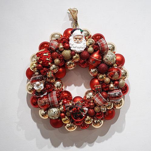 """Plaid Christmas"" wreath"