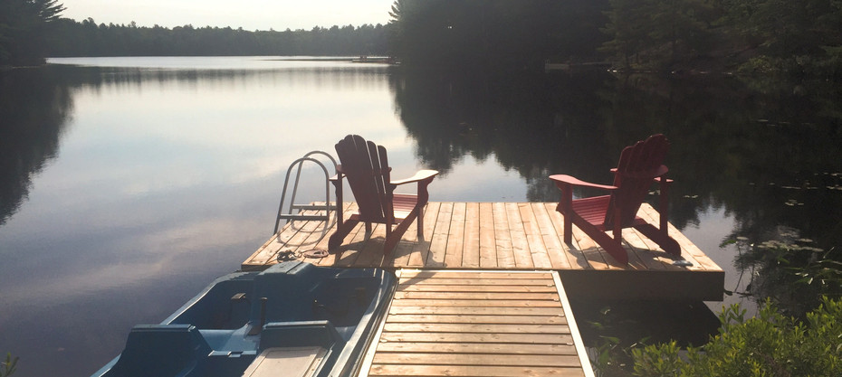 Calm waters are a regular occurrence on Little Lake.