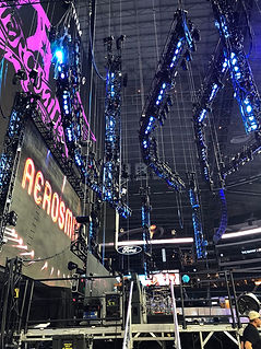 Media West Aerosmith Custom Stage Design live event production