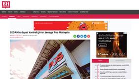 SEDANIA dapat kontrak jimat tenaga Pos Malaysia