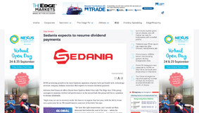 Sedania expects to resume dividend payments