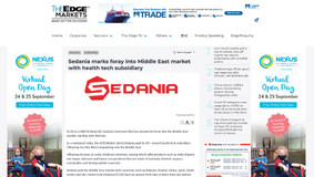 Sedania marks foray into Middle East market with health tech subsidiary