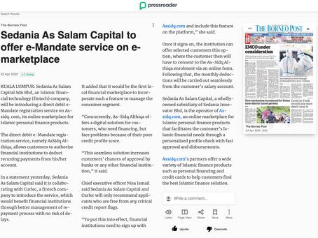 Sedania As Salam Capital to offer e-mandate service on e-marketplace