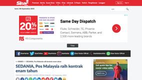 SEDANIA, Pos Malaysia raih kontrak enam tahun