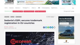 Sedania's ESPL secures trademark registration in EU countries