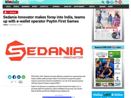 Sedania Innovator partners India's Paytm First Games