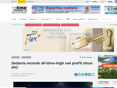 Sedania records all-time-high net profit since IPO