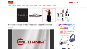 Sedania secures 24 new telco sites under GreenTech