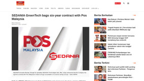 SEDANIA GreenTech bags six-year contract with Pos Malaysia