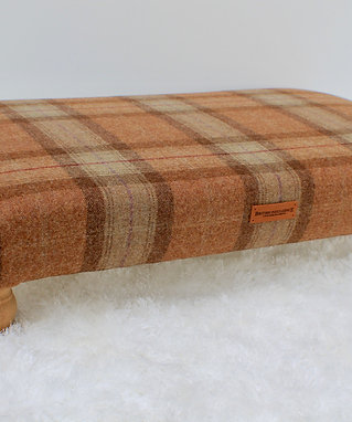 Skye Large Checked Footstool