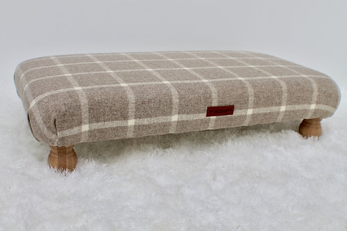Newton Large Checked Footstool