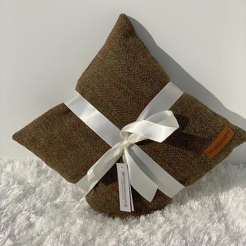 Medium Square Harris Tweed Bracken Cushion