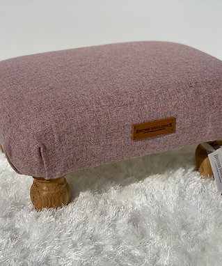 Sea Pink Small Footstool