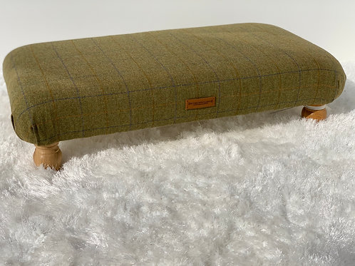 Skylark Large Checked Footstool