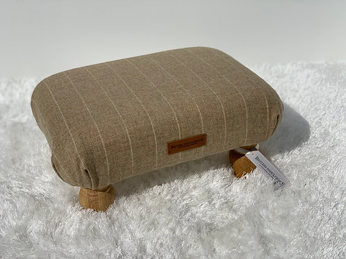 Natural Stripe Small Footstool