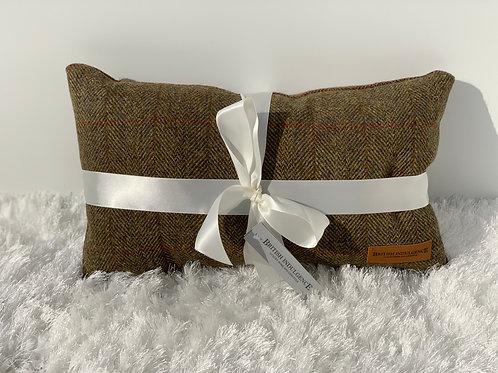 Large Rectangular Harris Tweed Bracken Cushion