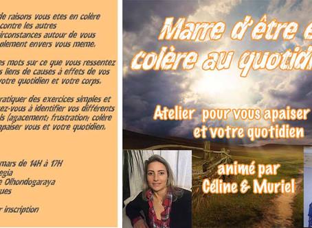 Atelier Biarritz/Tosse:Marre d'être agacé ou en colère au quotidien?