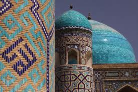 Registan square minaret -Samarkand