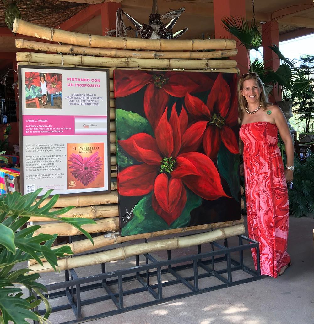 Artist Cheryl Wheeler at Vallarta Botanical Garden