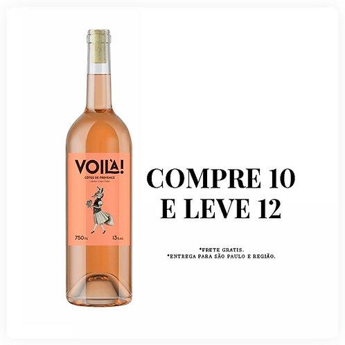Caixa 12 Garrafas Voilà Rosé Côtes de Provence 2020
