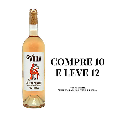 Caixa 12 Garrafas Voilà Rosé Côtes de Provence 2018