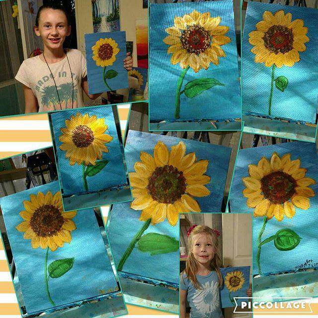 'Sunflower' acrylic on canvas