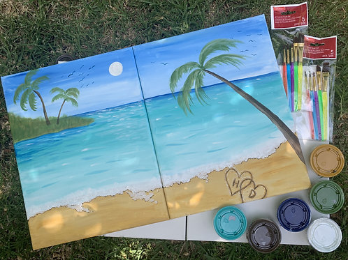 Tropical Landscape Double Canvas