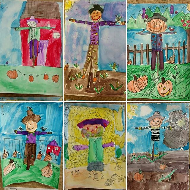 2nd grade scarecrows