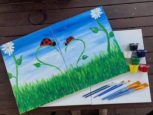 Ladybug Love Double Canvas