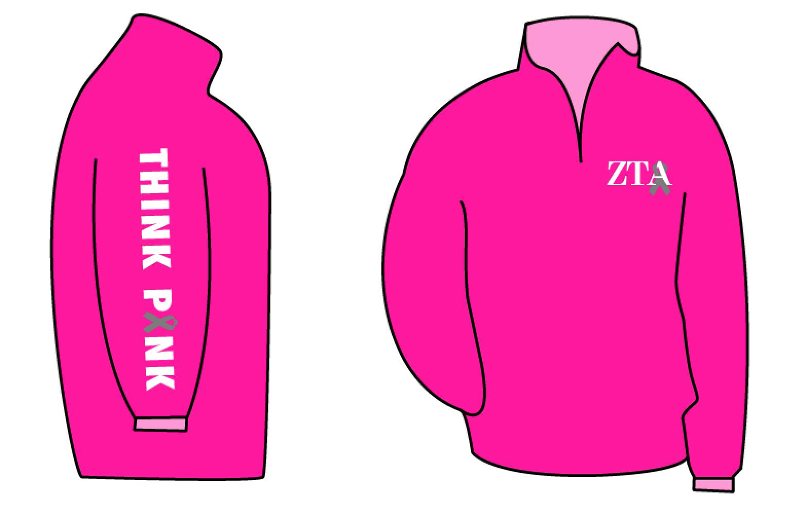 Pinktober Quarter Zips Pink
