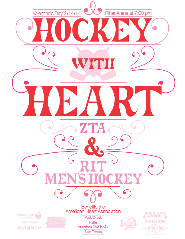 Hockey With Heart Poster