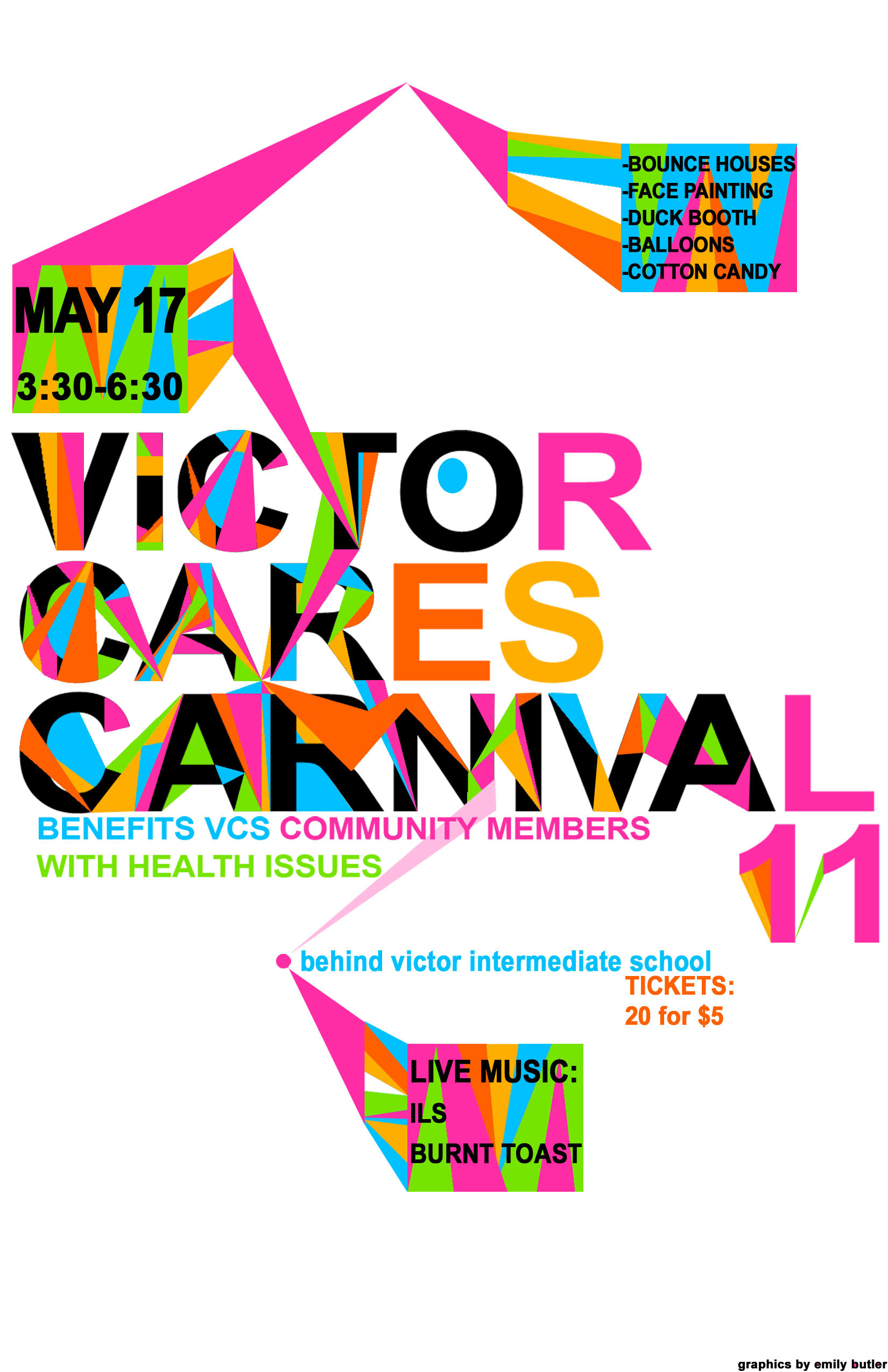 Victor Cares Carnival Poster