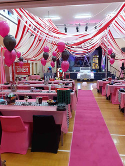 Grease themed party at Cobham Village Hall