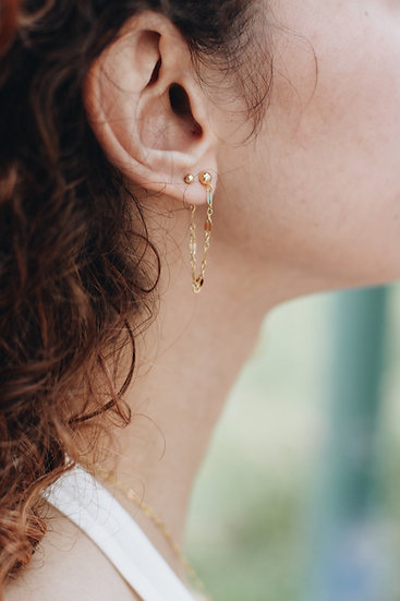 Essential Chain Hoop Earrings