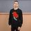 Thumbnail: Handle With Care Unisex Sweatshirt (Black & Grey)