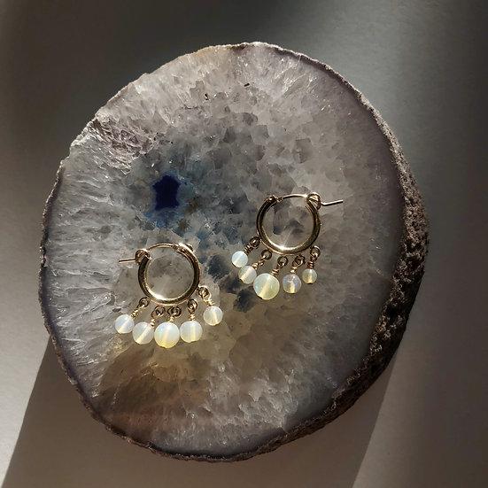 Mini Cluster Hoop - Ethiopian Opal