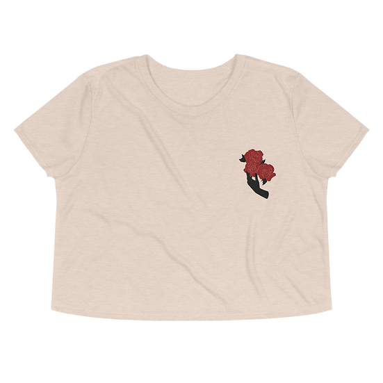 Handle With Care Crop Tee (Embroidered)