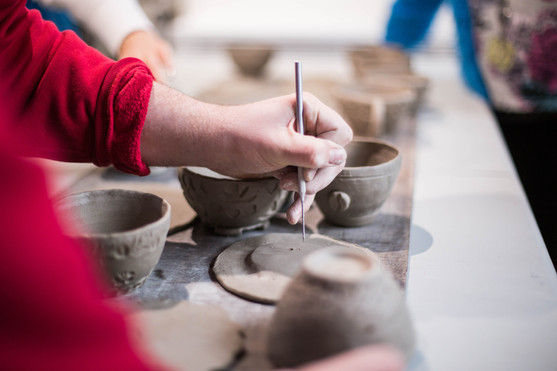 Clay carving