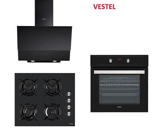 Vestel Siyah Ankastre Set 3 ( AD-6331 S - AO-6104 S - AF-6653 S )