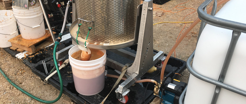 Pumped from the bucket into the Vat