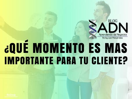 ¿Qué Momento es mas Importante para tu Cliente?