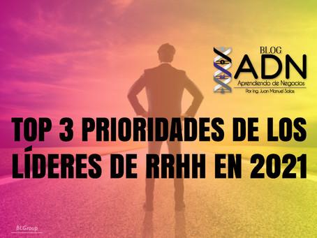 Top 3 Prioridades De Los Líderes De RRHH En 2021