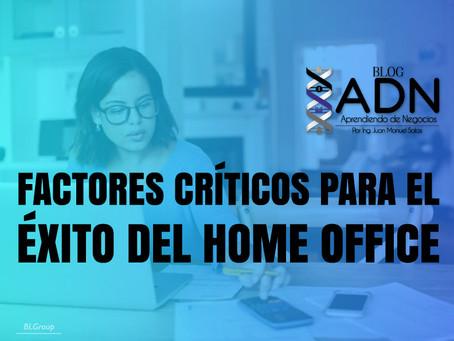 Factores Críticos Para El Éxito Del Home Office