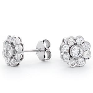 18ct White Gold Diamond Stud Earrings £995 SOLD