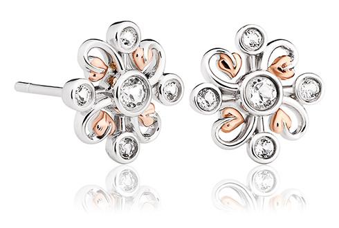 3SLKSE Tree of Life® Clover Stud Earrings £129