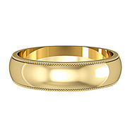 62428A01 9ct 5mm Yellow Gold - Mill Grain edges