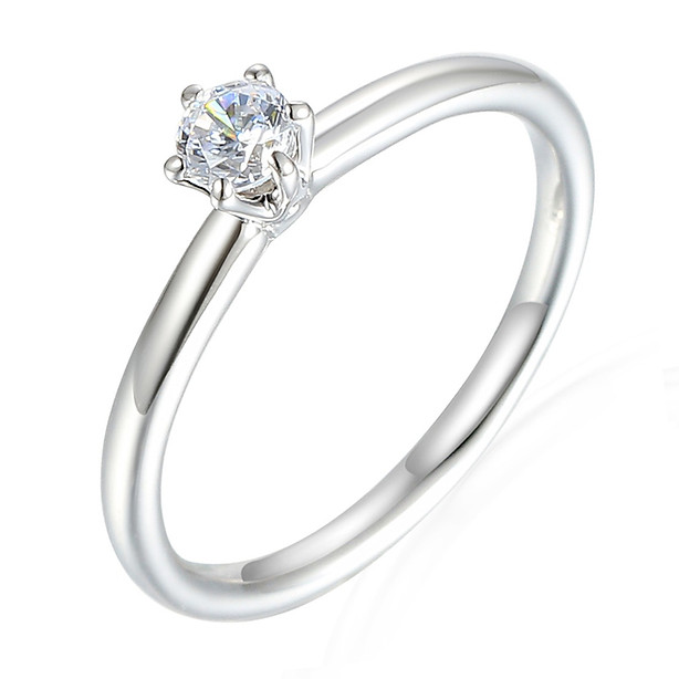 White Gold Diamond Solitaire 0.20ct