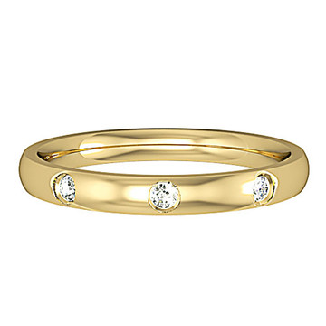 6243BVC1 9ct 2.5mm Yellow Gold - Three Diamonds