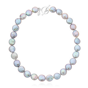 Bedruthan Silver Coin Pearl Necklace  CBNL0085 £185 SOLD