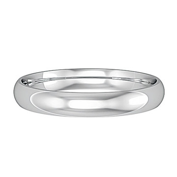 62530L01 9ct White Gold 2.5mm band